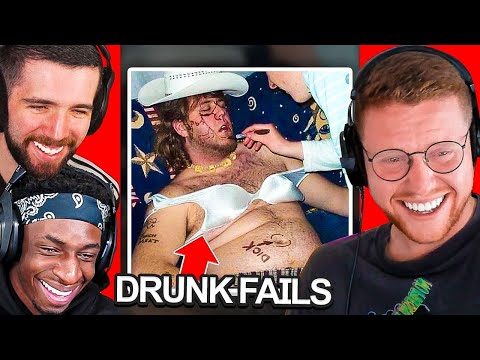 SIDEMEN REACT TO DRUNK FAILS