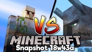 Minecraft 1.14 • Illager Beast VS Iron Golem! WHO WINS? [Snapshot 18w43a]
