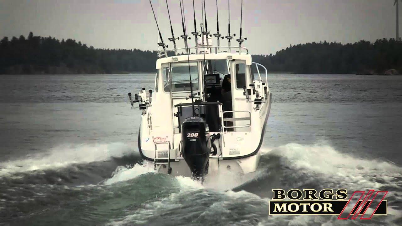 Катер для рыбалки троллингом AMT 215 PH Pro Fishing – Обзор катера на ходу