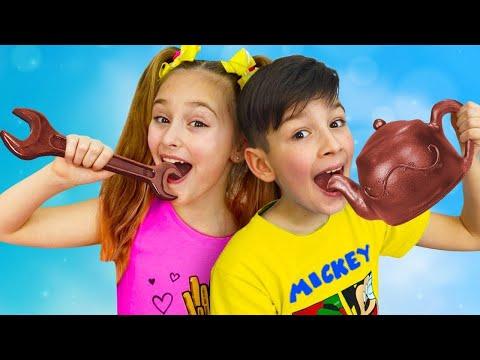 Sasha y una colección de divertidas series sobre el desafío del chocolate