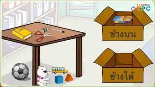 สื่อการเรียนการสอน บอกตำแหน่งของสิ่งต่างๆ (ทั้งหมด) ป.1 คณิตศาสตร์
