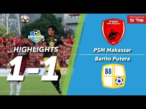 PSM Makassar vs Barito Putera: 1-1 All Goals & Highlights