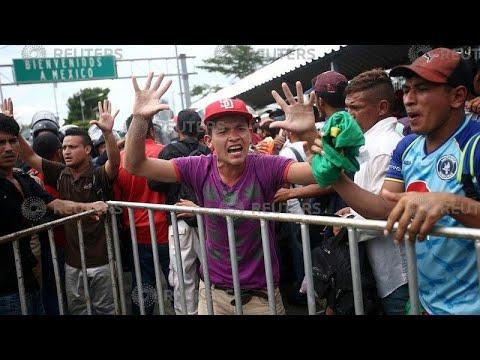 Χιλιάδες μετανάστες εγκλωβισμένοι στα σύνορα Μεξικού-Γουατεμάλας…