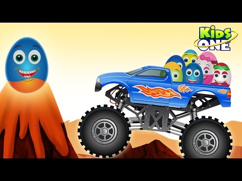 Learn ALPHABETS with Monster Truck and Surprise Eggs | ABC Phonics for Kids
