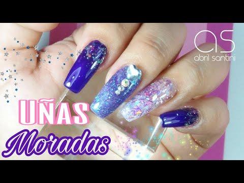 Videos de uñas - Uñas para quinceañera en color Morado. - Vídeo Petición