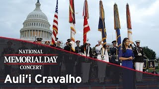 Auli'i Cravalho performing on the 2017 National Memorial Day Concert