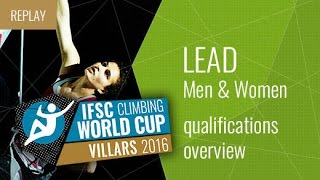 IFSC Climbing World Cup Villars 2016 - Qualifications Overview by International Federation of Sport Climbing