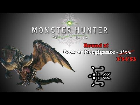 [MHW Beta] Bow Vs Nergigante Round 2 - 3'54'53