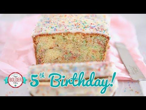 Birthday messages - Birthday Pound Cake with LOADS of Sprinkles  Bigger Bolder Baking 5th Birthday Episode