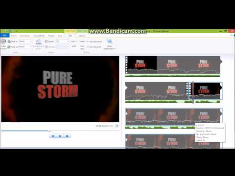 How to create screen pumps in movie maker
