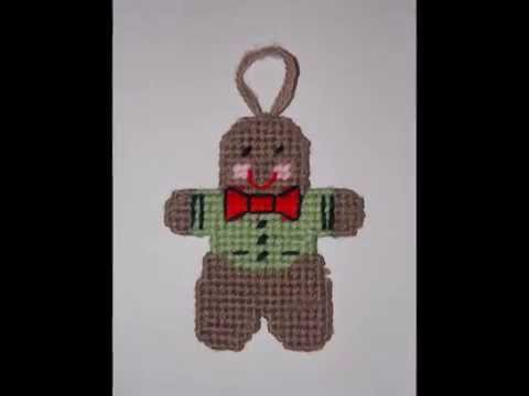 How to make Plastic Canvas Christmas Tree Gingerbread Man