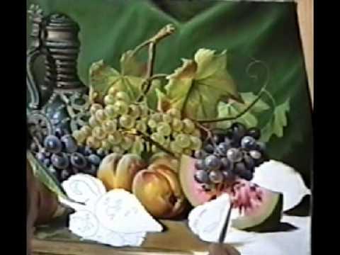 Натюрморт с фруктами видео