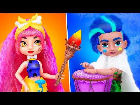14 DIY Barbie Doll Hacks and Crafts / Cave Club Ideas