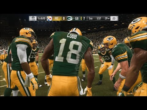 Madden NFL 19 - Green Bay Packers vs Pittsburgh Steelers - Gameplay (HD) [1080p60FPS]