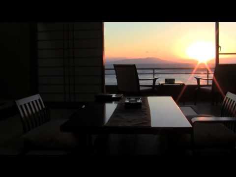 客室から見える初日の出はこんな感じ♪海辺の宿 熱川館