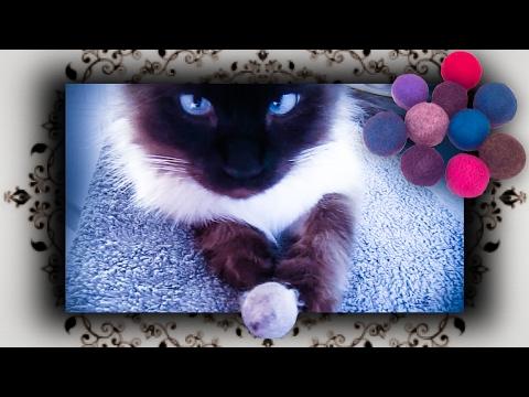 DIY ♔ Katzen Ball – FILZ BALL aus Katzenhaar – Felt Cat Toy