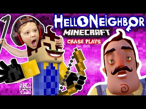 HELLO NEIGHBOR MINECRAFT IMPOSTER!  FGTEEV Chase Plays! (Mod Map of Horror Adventure w/ ZOMBIE) (видео)