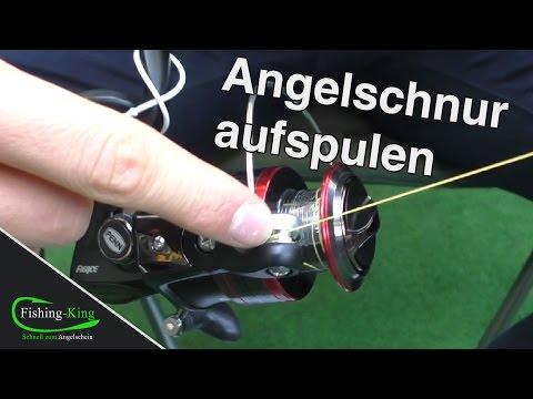 Angelschnur aufspulen: Wie wickelt man (selber) Schnur auf die Rolle? | Fishing-King.de