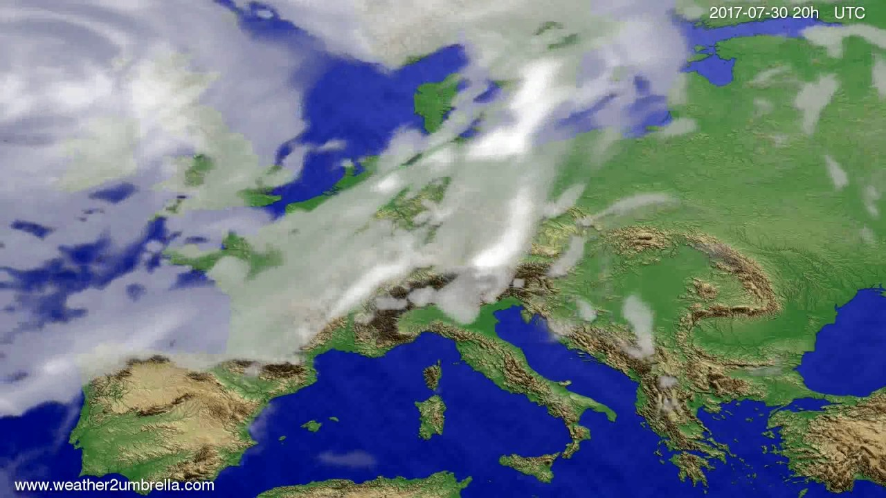 Cloud forecast Europe 2017-07-28
