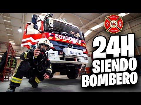 24 HORAS SIENDO BOMBERO!! **EMERGENCIA REAL GRABADA** [Shooter]