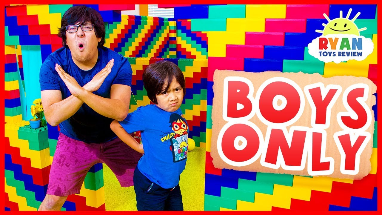 Giant Lego Box Fort No Girls Allow!!!! - YouTube