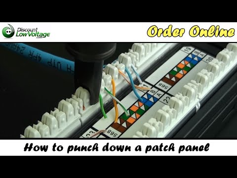 how to patch panel