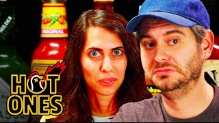 Download Youtube: H3H3 Productions Does Couples Therapy While Eating Spicy Wings | Hot Ones