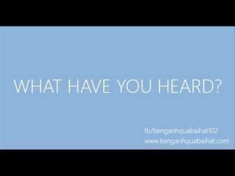 Luyện Nghe Tiếng Anh Qua Bài Hát 016 - Thời lượng: 40 giây.