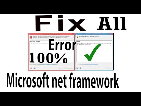 SOLVE ALL MICROSOFT NET FRAMEWORK REQUIRED AND BLOCKING ISSUES