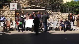 اعتصام أهالي الاسرى الاسبوعي أمام الصليب الاحمر