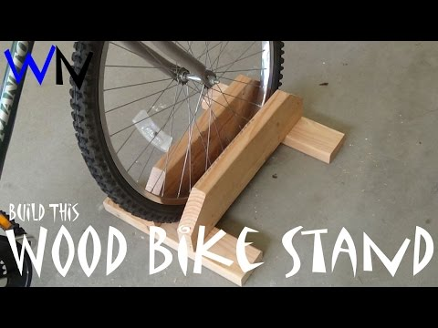 How to Build a Wood Bike Stand!