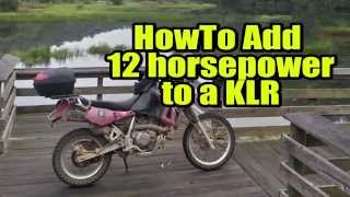 8. Add horsepower to KLR 650