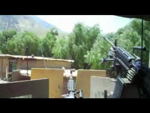 gunner - While on route in Eastern Afghanistan, a U.S. Army convoy gets attacked. This soldier took two RPGs to the right side of his turret. (He is alive and well an...