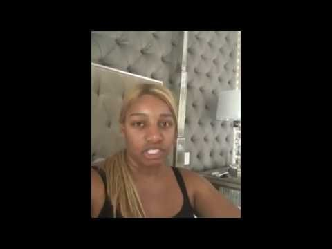 #NeNeLeaks posts #nomakeup and no hair weave or wig video! This is Nay Nay all natural!  #RHOA 9