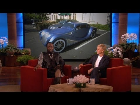 will.i.am - He drove up to the lot in style! Will.i.am flashed his awesome new car for Ellen, and told her the interesting story behind it.