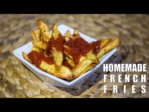 HOW TO COOK Homemade French Fries   ASMR Cooking