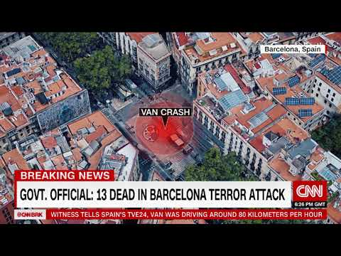 Death toll rises in Barcelona: At least 13 dead, government says
