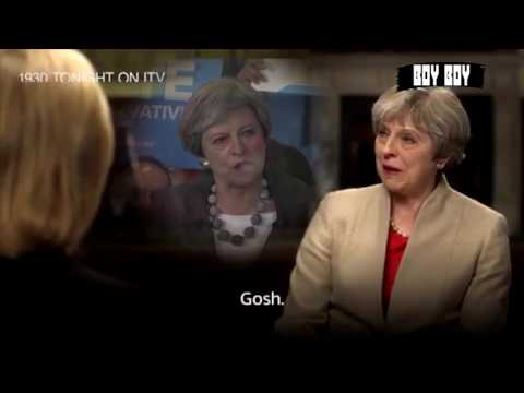 Theresa May using the classic