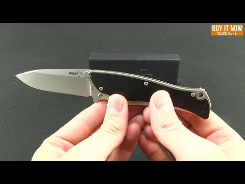 "Boker Plus Griploc Folding Knife (3.25"" Black) G&G Hawk Design 01BO043"