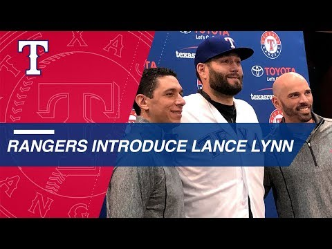 Video: Rangers introduce pitcher Lance Lynn