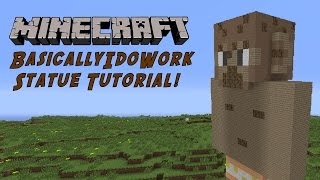 Minecraft Tutorial: BasicallyIDoWork (GTA Character) Statue