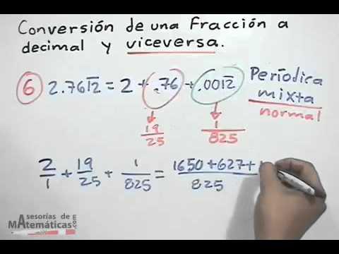 Konvertieren einer Fraktion auf Dezimal und umgekehrt (TEIL 3)