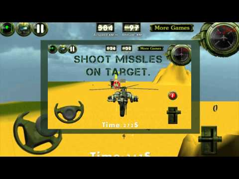 Video of Combat helicopter 3D flight