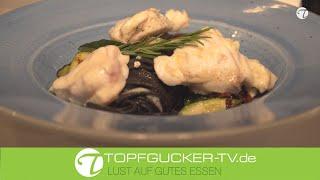 Medaillons vom Seeteufel an Zucchini | Palais Bistro Kempinski Dresden | Topfgucker-TV