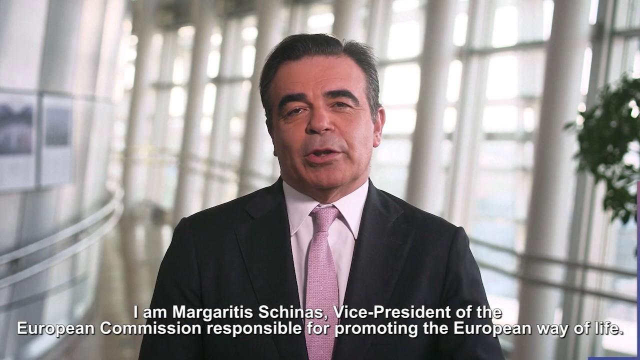 Μαργαρίτης Σχοινάς, Αντιπρόεδρος της Ευρωπ. Επιτροπής για την προώθηση του ευρωπαϊκού τρόπου ζωής