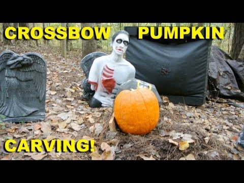 "Watch '~ ""Crossbow Pumpkin Carving!"" ~'"