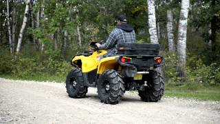10. Can-Am Outlander 800xt - STOCK Exhaust vs. Looney Tuned Slip-On (LTE)