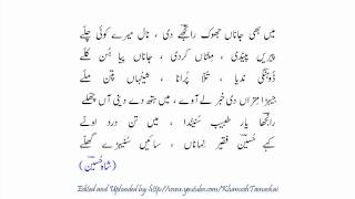 Shah Hussain: Mein Bhi Jaanaan: Tufail Niaziشاہ حسین: میں بھی : طفیل نیازی
