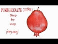 How to draw a Pomegranate step by step (very easy)
