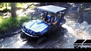 9. Yamaha Rhino 4 Seater Side by Side 4x4 Mudding